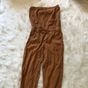 Camel free people inspired romper